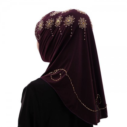 Golden Flower Mulberry Hijab