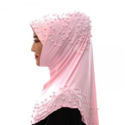 Pink Pearl Hijab