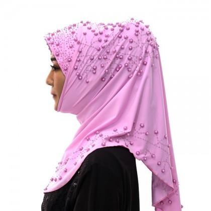 Purple Pearl Hijab