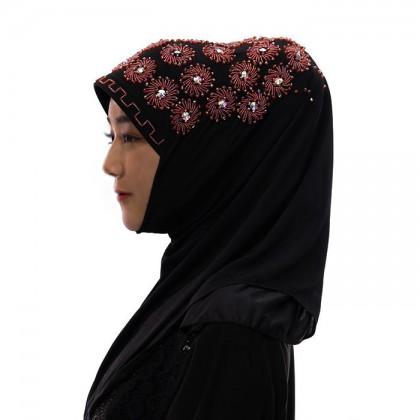 Red Flower Hijab