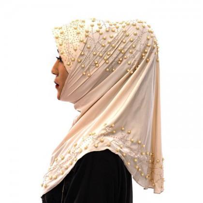 Rose Pink Pearl Hijab
